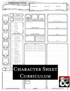 Curriculum Character sheet - printable