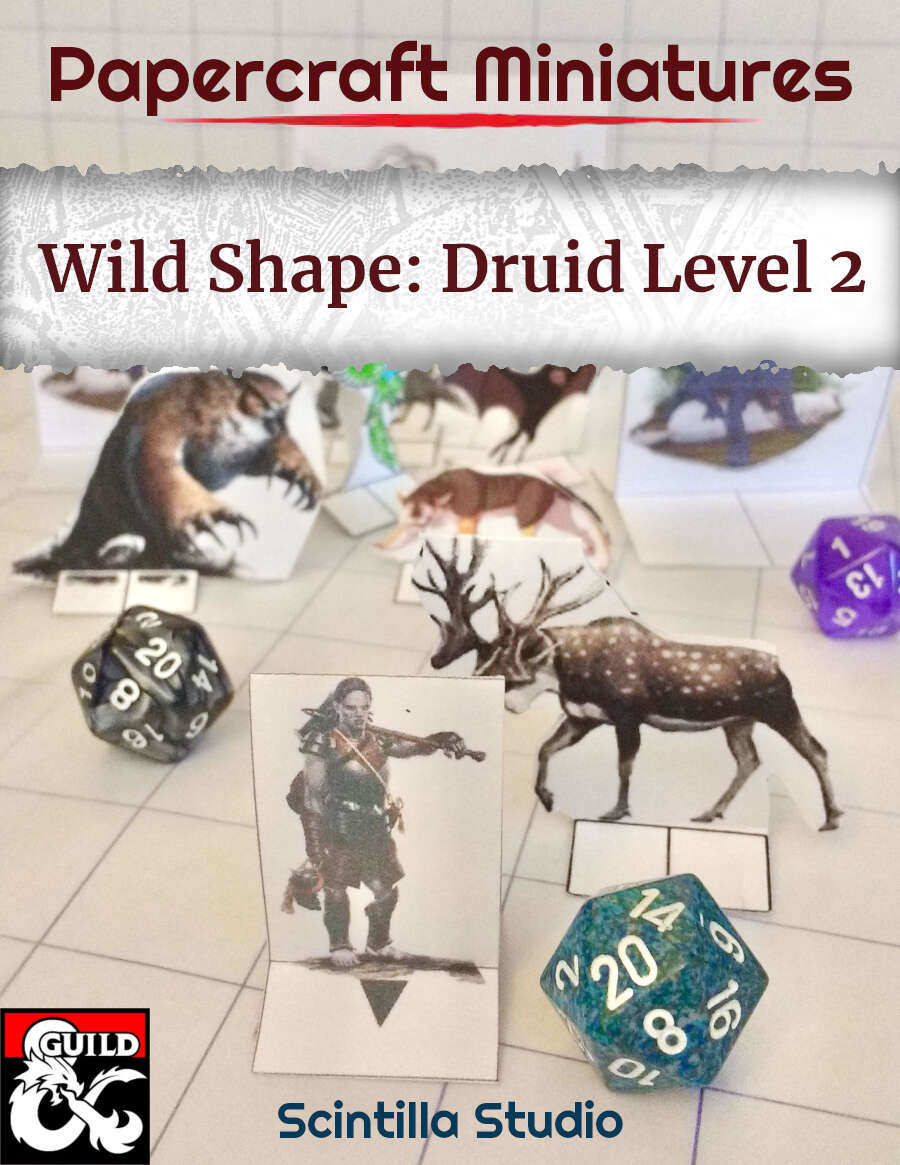 Papercraft Miniatures: Druid Level 2