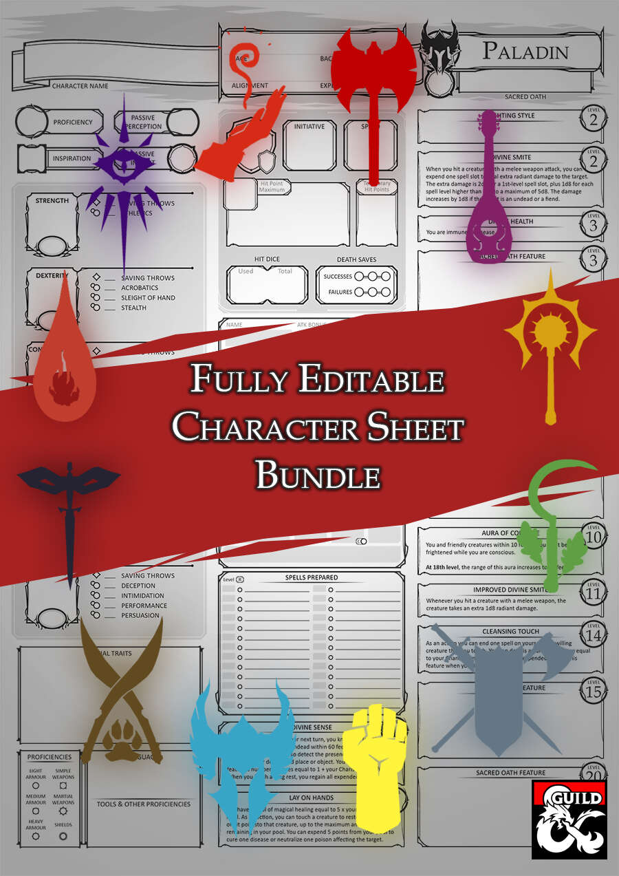 FULL Bundle Epic Character Samplers ALL 12 Sheets!
