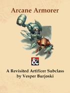 Arcane Armorer: Artificer Subclass