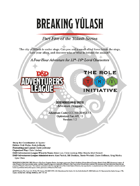 CCC-TRI-20 Breaking Yûlash (Part Five of the Yûlash Series)
