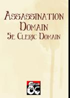 Assassination Domain (5e Cleric Domain)