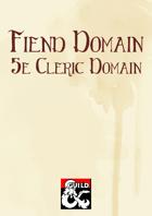 Fiend Domain (5e Cleric Domain)