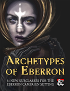 Archetypes of Eberron: 31 Subclasses