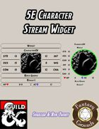 5E Character Stream Widget (Fantasy Grounds)