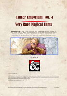 Tinker Emporium Vol. 4 - Very Rare Items
