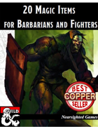 20 Magic Items for Barbarians and Fighters