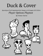 Duck & Cover: Character Options Playtest