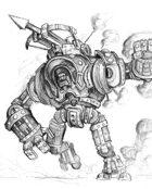 Warforged titan vs T-rex