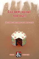 Questionable Confectionaires vol.2 Cole'Drens Holiday Food Digest preview taster