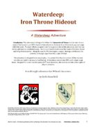 Waterdeep: The Iron Throne Hideout