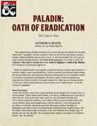 Paladin: Oath of Eradication
