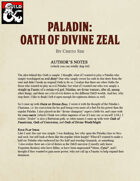 Paladin: Oath of  Divine Zeal