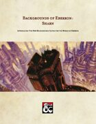 Backgrounds of Eberron: Sharn