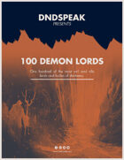 Dndspeak - 100 Demon Lords