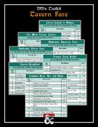 DM's Toolkit - Tavern Fare