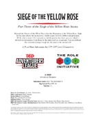 CCC-TRI-28 Siege of the Yellow Rose (Part Three of the Siege of the Yellow Rose Series)