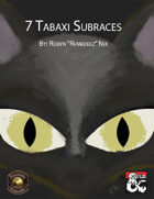 Tabaxi: 7 Subraces (Fantasy Grounds)