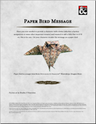 Paper Bird Message