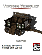Various Vehicles: Carts!