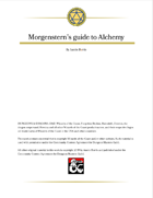Morgenstern's guide to Alchemy