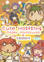 Cute Halfling Paper miniatures & Clip art