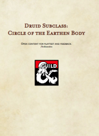 Druid Circle of the Earthen Body