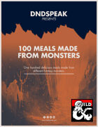 100 Meals Made From Monster Parts