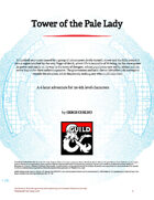 Tower of the Pale Lady • 1st tier Adventure (5e)