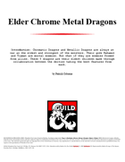 Elder Chrome Metal Dragons