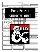 Paper-Focused Character Sheet