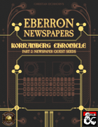Eberron Newspapers: Korranberg Chronicle | Part 2 - Quest Seeds (Fantasy Grounds)