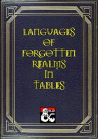 Languages of Forgotten Realms in Table