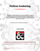 Perilous Awakening • 2nd tier Adventure (5e)