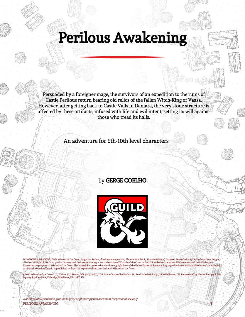 Cover of Perilous Awakenings