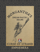 Morgantha's Dream Pastry Recipe: Curse of Strahd Ephemera