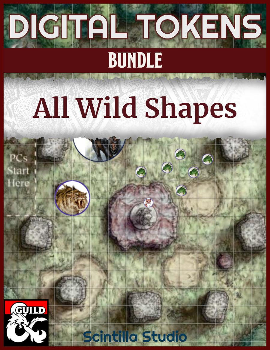 Cover - Digital tokens, Wildshape