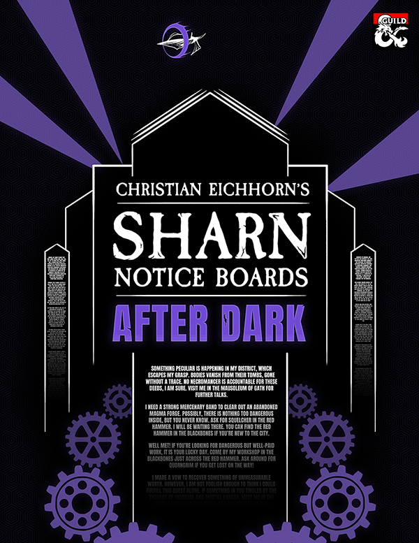 Sharn Notice Boards: After Dark