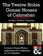 The Twelve Noble Genasi Houses of Calimshan (5e)