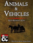 Animals & Vehicles - quick reference guide