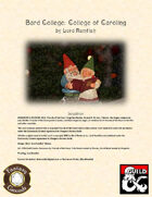 Bard College: College of Caroling (Fantasy Grounds)