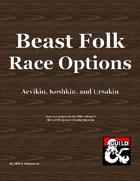 Beast Folk Race Options