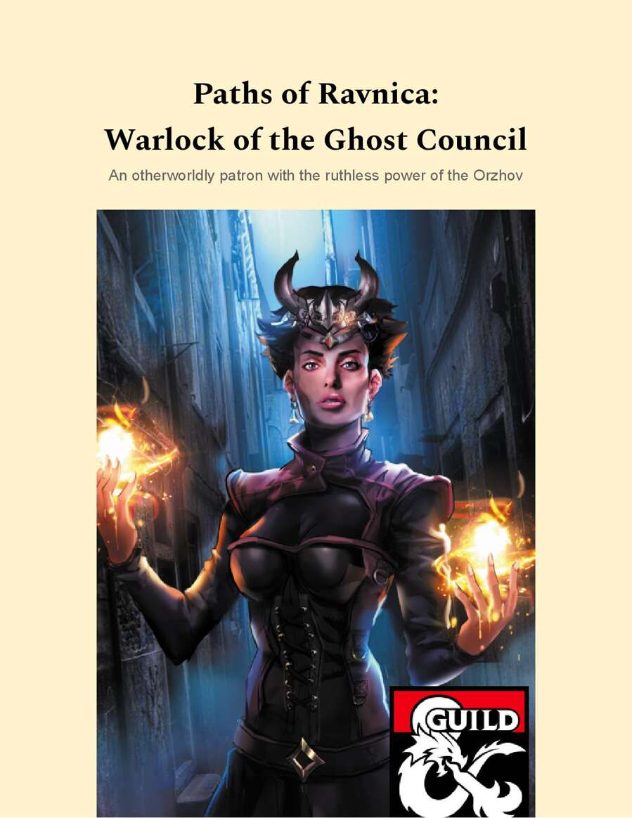 Paths Of Ravnica Orzhov Warlock Of The Ghost Council Dungeon Masters Guild Dungeon Masters Guild Very nice introduction to it, as well. paths of ravnica orzhov warlock of the ghost council dungeon masters guild dungeon masters guild