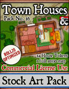 Town Houses - Stock Art Pack