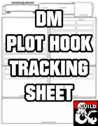 Plot Hook Tracking Sheet REMASTERED
