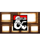 TTRPG Streaming Overlay - Wood and Scroll with Map window