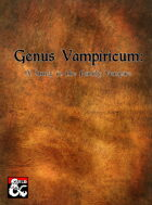 Genus Vampiricum: A Study in the Family Vampire
