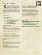 Cleric Subclass - Earth Domain