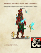 Artificer Specialization: The Toymaster