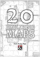20 Black and White Building Maps